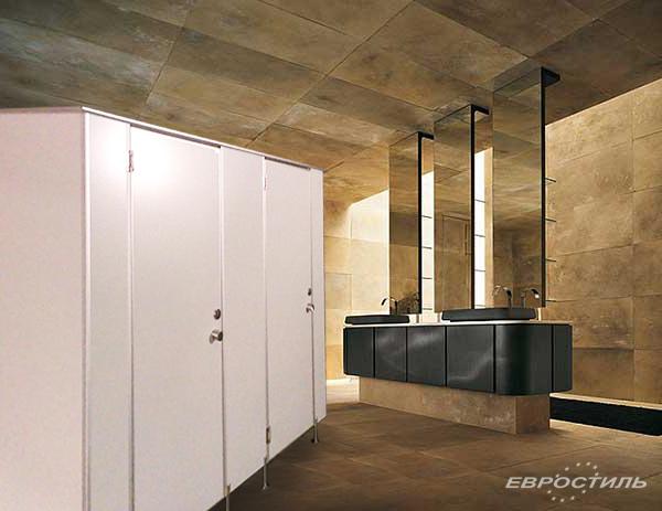 Офисные санитарно-технические перегородки, кабинки туалетов и душевых в СПб
