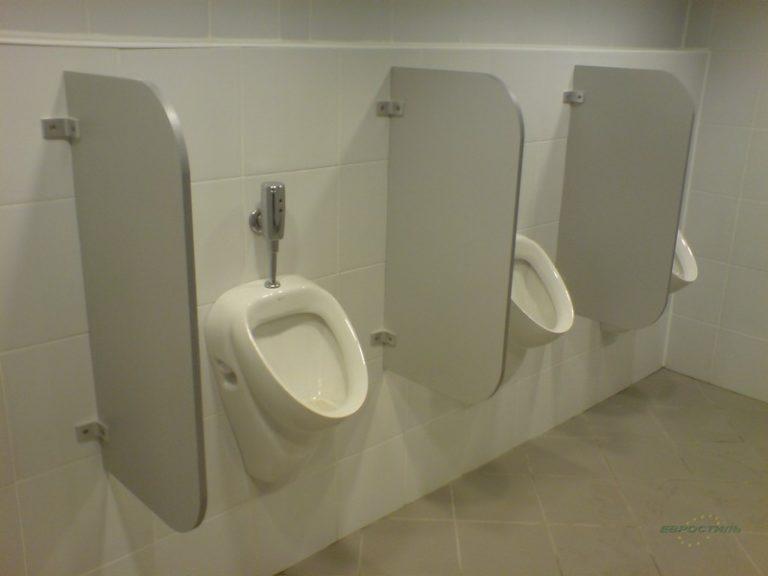Писсуарные перегородки для общественных туалетов