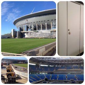 сантехнические перегородки для стадиона зенит-арена
