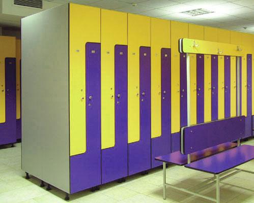 мебель для спортивных раздевалок