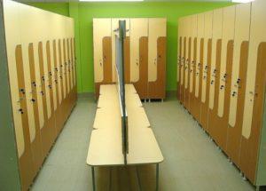 шкафы в спортивных раздевалках