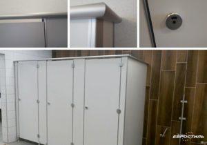 Туалетные перегородки из HPL с фурнитурой Design