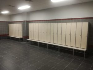 Шкафчики для раздевалок из HPL пластика Евростиль